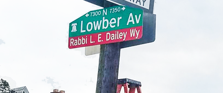 Street Named After Black Rabbi